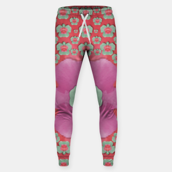 Thumbnail image of fantasy flowers in everything that is around us in a free environment  Cotton sweatpants, Live Heroes