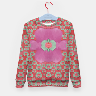 Thumbnail image of fantasy flowers in everything that is around us in a free environment  Kid's sweater, Live Heroes