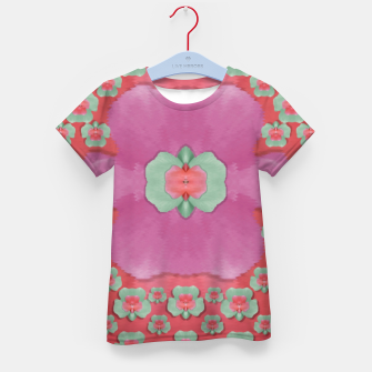 Thumbnail image of fantasy flowers in everything that is around us in a free environment  Kid's t-shirt, Live Heroes