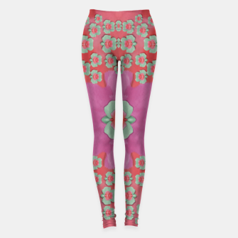 Thumbnail image of fantasy flowers in everything that is around us in a free environment  Leggings, Live Heroes