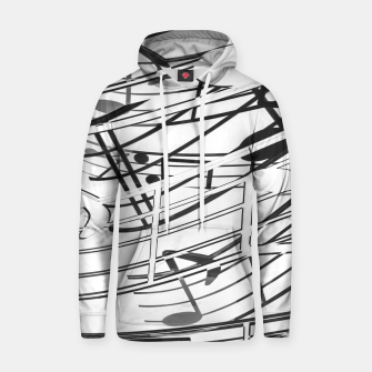 Thumbnail image of music note sign pattern abstract background in black and white Cotton hoodie, Live Heroes