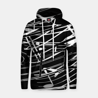 Thumbnail image of music note sign abstract background in black and white Cotton hoodie, Live Heroes