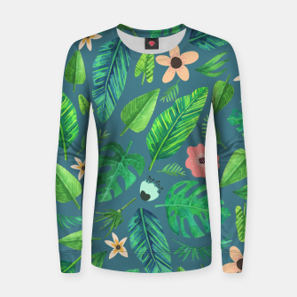Thumbnail image of Tropical Life I  Woman cotton sweater, Live Heroes
