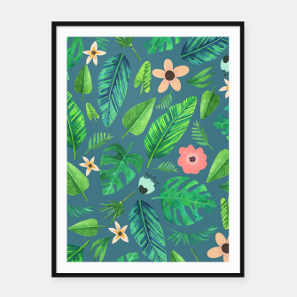 Thumbnail image of Tropical Life I  Framed poster, Live Heroes