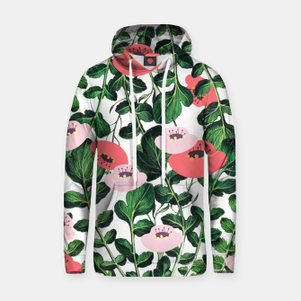 Thumbnail image of Parsnip & Poppies Cotton hoodie, Live Heroes