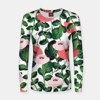 Thumbnail image of Parsnip & Poppies Woman cotton sweater, Live Heroes