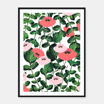 Thumbnail image of Parsnip & Poppies Framed poster, Live Heroes