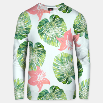 Thumbnail image of Monstera + Pink Cotton sweater, Live Heroes