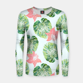 Thumbnail image of Monstera + Pink Woman cotton sweater, Live Heroes