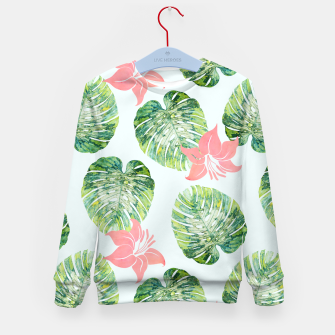 Thumbnail image of Monstera + Pink Kid's sweater, Live Heroes