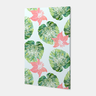 Thumbnail image of Monstera + Pink Canvas, Live Heroes