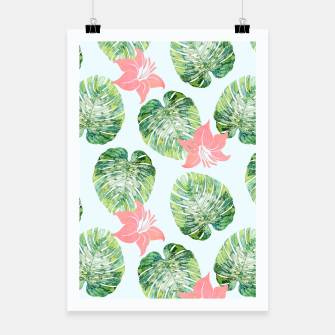 Thumbnail image of Monstera + Pink Poster, Live Heroes
