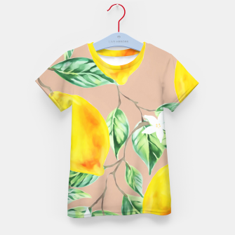 Thumbnail image of Lemon Fresh Kid's t-shirt, Live Heroes