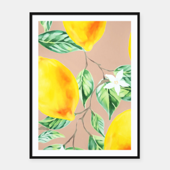 Thumbnail image of Lemon Fresh Framed poster, Live Heroes