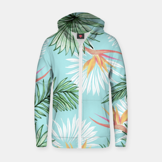 Tropic Palm Cotton zip up hoodie thumbnail image