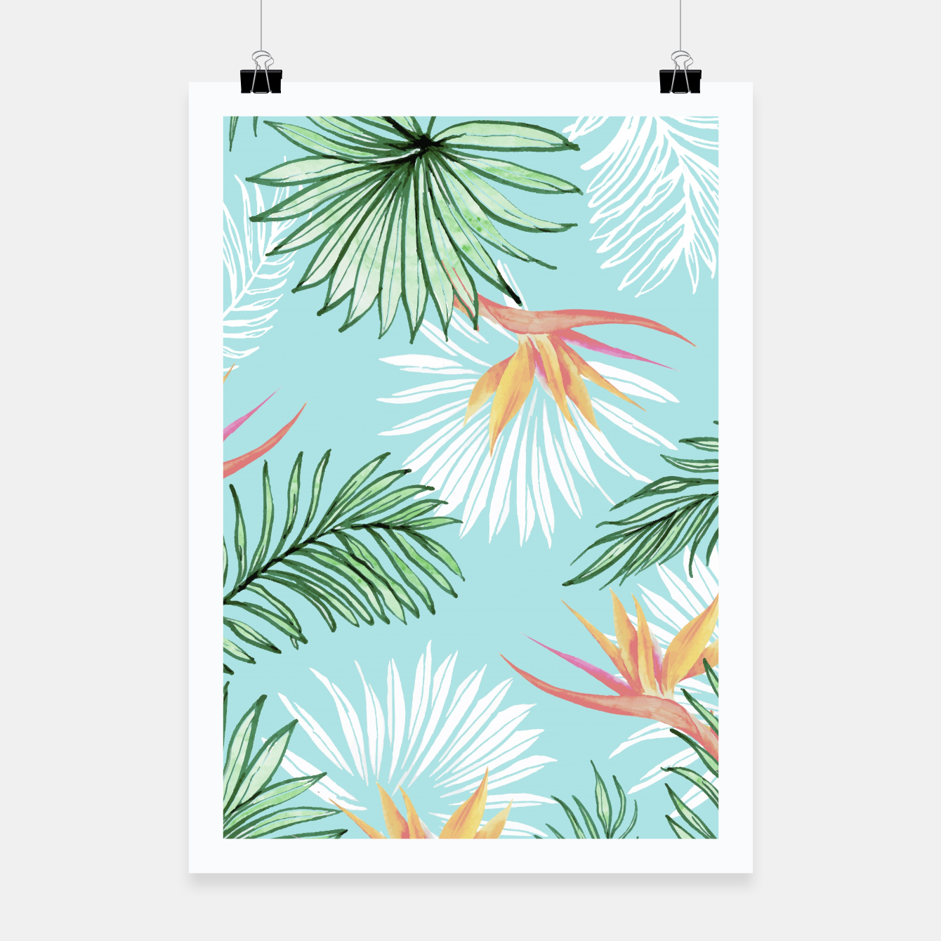 Image of Tropic Palm Poster - Live Heroes