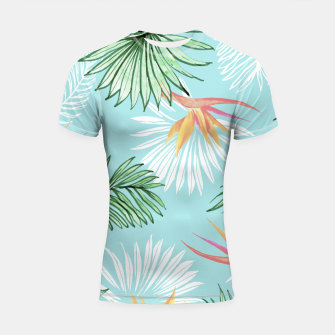 Thumbnail image of Tropic Palm Shortsleeve rashguard, Live Heroes