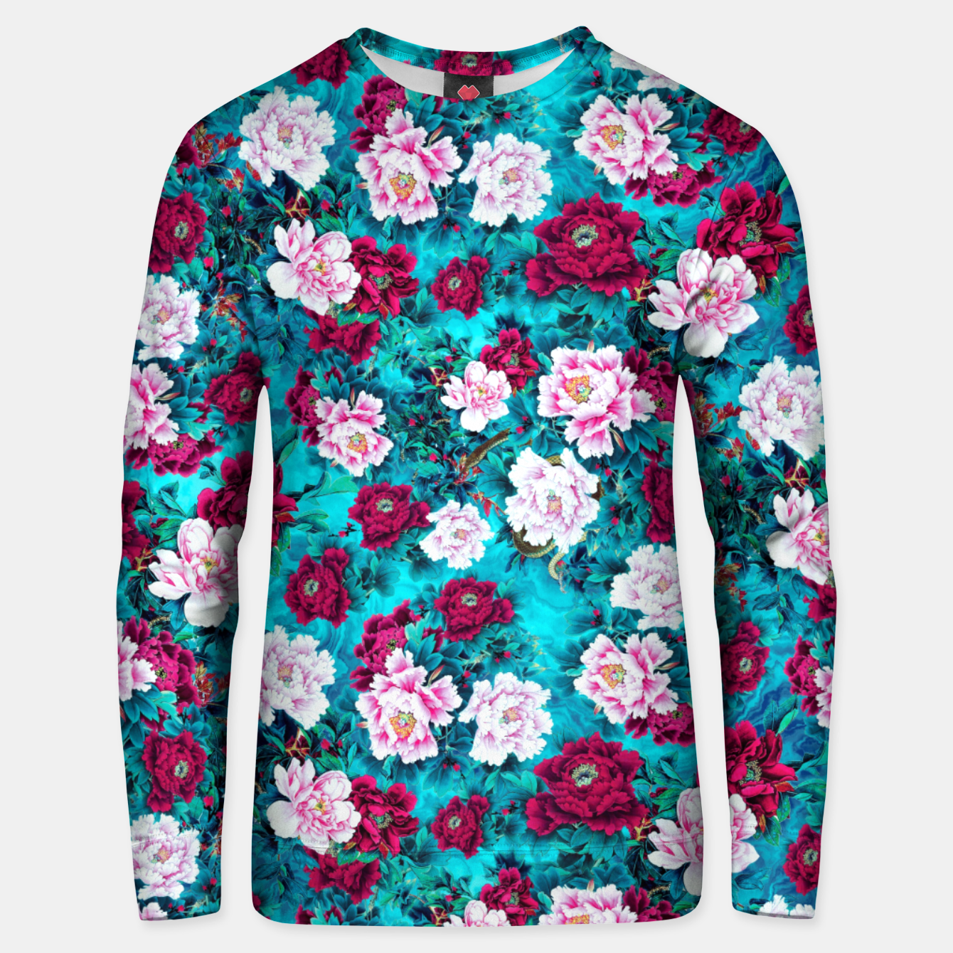 Image of Peonies Cotton sweater - Live Heroes