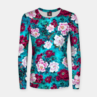 Peonies Woman cotton sweater Bild der Miniatur