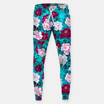 Miniatur Peonies Cotton sweatpants, Live Heroes