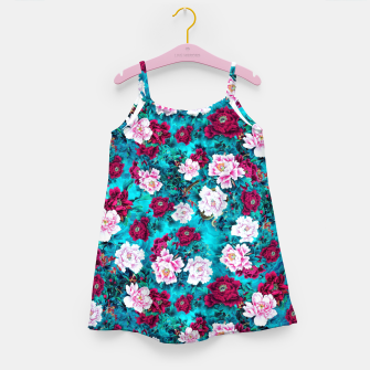 Peonies Girl's dress Bild der Miniatur