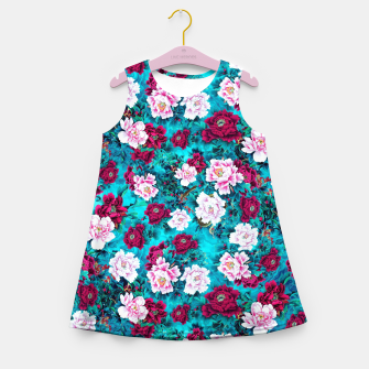 Peonies Girl's summer dress Bild der Miniatur