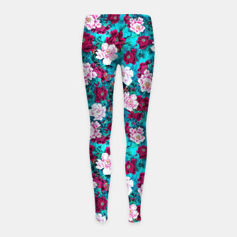 Thumbnail image of Peonies Girl's leggings, Live Heroes