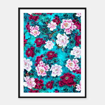 Thumbnail image of Peonies Framed poster, Live Heroes