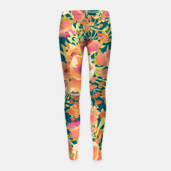 Thumbnail image of Floral Bunch Girl's leggings, Live Heroes