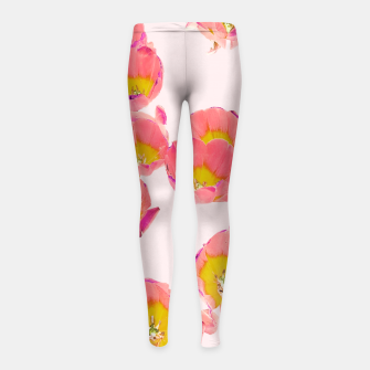 Thumbnail image of Flower Therapy Girl's leggings, Live Heroes