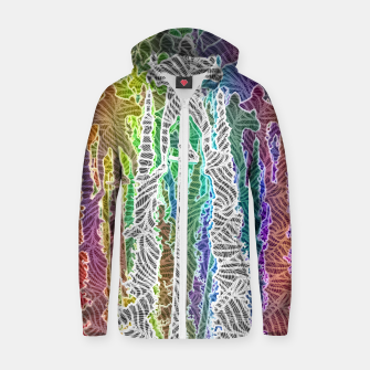 Thumbnail image of Lift It Cotton zip up hoodie, Live Heroes