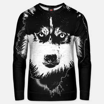 Thumbnail image of gxp dog hund husky face gesicht spray art sprüh kunst graffiti Baumwoll sweatshirt, Live Heroes