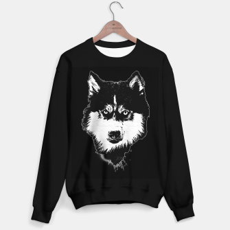 Thumbnail image of gxp dog hund husky face gesicht spray art sprüh kunst graffiti Sweatshirt regulär, Live Heroes