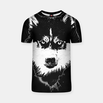 Thumbnail image of gxp dog hund husky face gesicht spray art sprüh kunst graffiti T-Shirt, Live Heroes