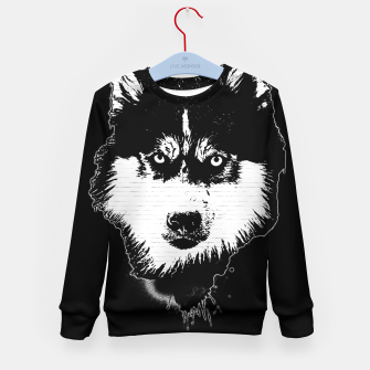 Thumbnail image of gxp dog hund husky face gesicht spray art sprüh kunst graffiti Kindersweatshirt, Live Heroes