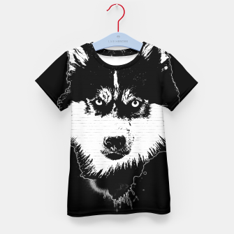 Thumbnail image of gxp dog hund husky face gesicht spray art sprüh kunst graffiti T-Shirt für kinder, Live Heroes