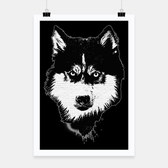 Thumbnail image of gxp dog hund husky face gesicht spray art sprüh kunst graffiti Plakat, Live Heroes