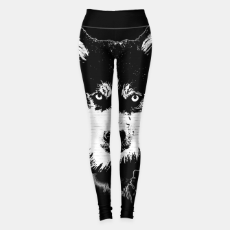 Thumbnail image of gxp dog hund husky face gesicht spray art sprüh kunst graffiti Leggings, Live Heroes