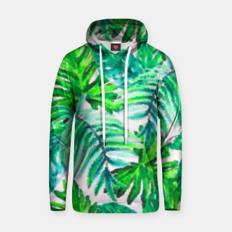 Thumbnail image of Tropical Leaves Cotton hoodie, Live Heroes