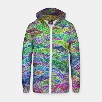 Thumbnail image of Evolution Cotton zip up hoodie, Live Heroes