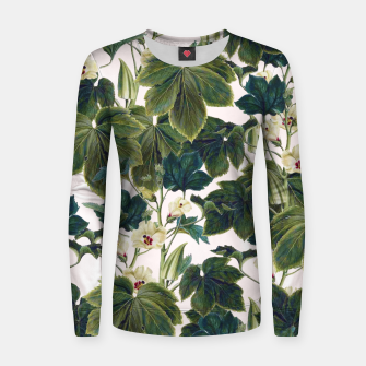 Thumbnail image of Wild Forest Woman cotton sweater, Live Heroes