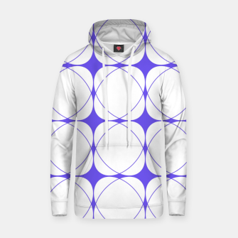 Thumbnail image of Abstract pattern - blue and white. Cotton hoodie, Live Heroes