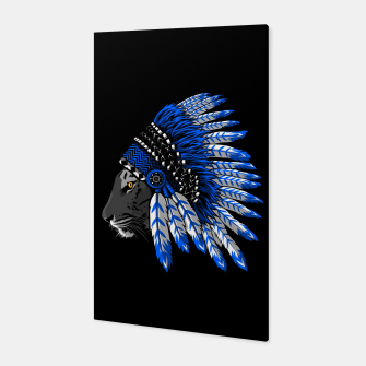 Miniatur Indian chief tiger Canvas, Live Heroes