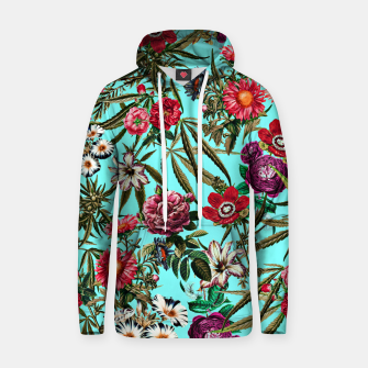 Thumbnail image of Marijuana and Floral Pattern II Cotton hoodie, Live Heroes