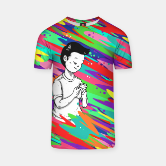 Thumbnail image of Denying All Rainbow T-shirt, Live Heroes