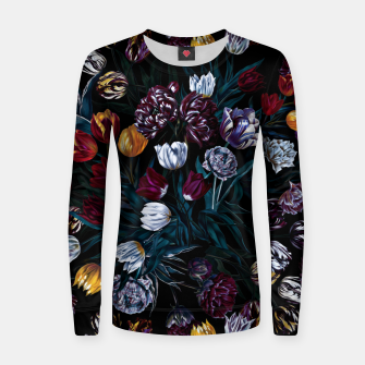 Miniatur EXOTIC GARDEN - NIGHT XIV Woman cotton sweater, Live Heroes