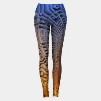 Thumbnail image of Golden Puzzle KM Blue Hue Leggings, Live Heroes