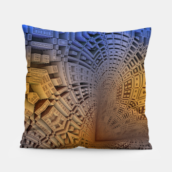 Thumbnail image of Golden Puzzle KM Blue Hue Pillow, Live Heroes