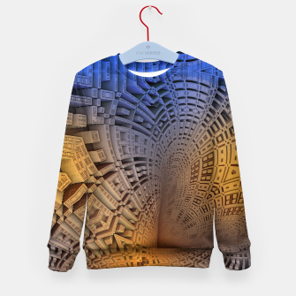 Thumbnail image of Golden Puzzle KM Blue Hue Kid's sweater, Live Heroes