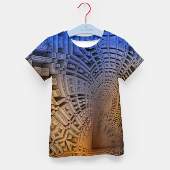 Thumbnail image of Golden Puzzle KM Blue Hue Kid's t-shirt, Live Heroes